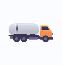 gas or oil tanker truck icon land transport vector image
