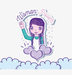 Girl power cartoons vector