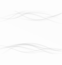 Grey soft smooth swoosh lines contemporary vector