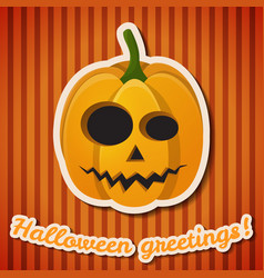 halloween party festive poster vector image
