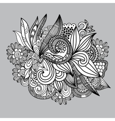 Hand-drawn paisley pattern Seamless background vector image