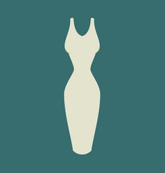 icon in flat design fashion clothes dress vector image