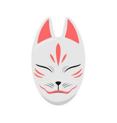 japan fox mask vector image