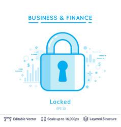 Key lock symbol on white vector