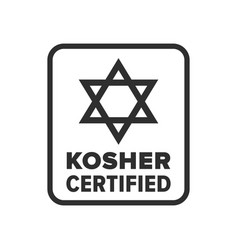 Kosher certified symbol vector