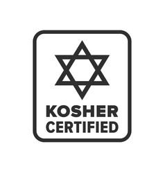 Kosher certified symbol vector
