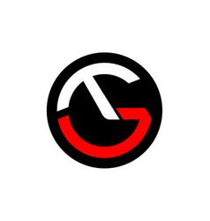 Letter t g vector