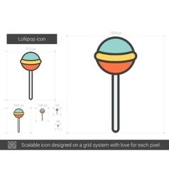 Lollipop line icon vector