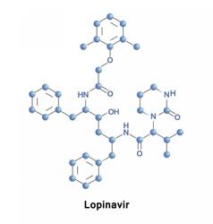 Lopinavir is an antiretroviral vector image
