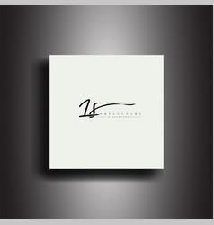 Ls signature style monogramcalligraphic lettering vector