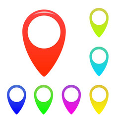 map marker map pin map markers with vector image