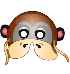 Masquerade monkey with strings in cartoon style vector