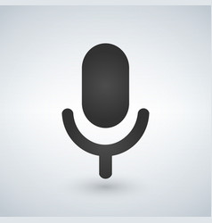 microphone icon isolated on modern background vector image
