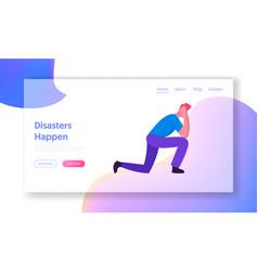 Negative emotion stress website landing page vector