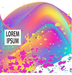 Neon fluid paint splatter artistic template vector