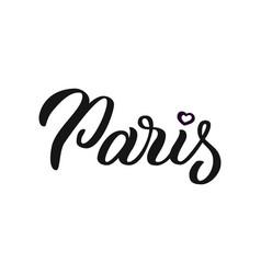 paris - hand lettering vector image