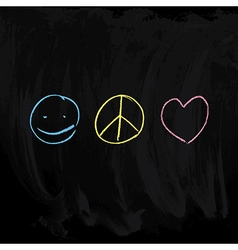 Peace and Love symbols vector