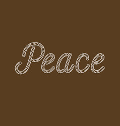 Peace typography made from nautical rope vector