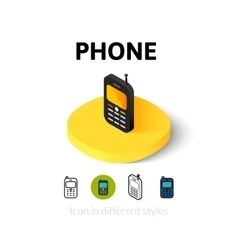 Phone icon in different style vector image