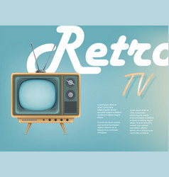 poster of vintage tv set television vector image