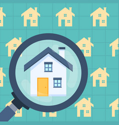 real estate property housing research analysis vector image