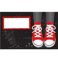 Red gumshoes vector