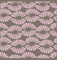 seamless brown and pink pattern with retro vector image