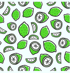 seamless pattern with green lime background vector image