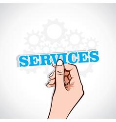 Services sticker in hand vector