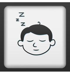 Sleep button vector image