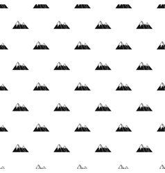 Snowy mountains pattern simple style vector
