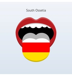 South Ossetia language Abstract human tongue vector image