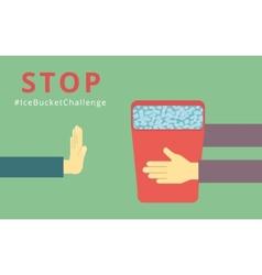 Stop Ice Bucket Challenge vector