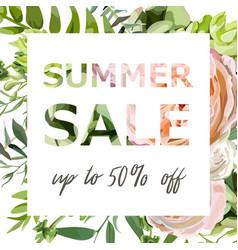 summer sale banner poster background vector image