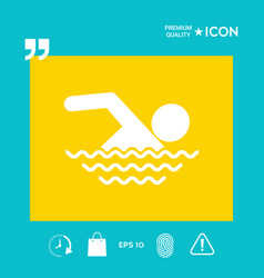 swim symbol icon vector image
