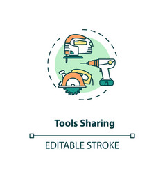 Tools sharing concept icon vector