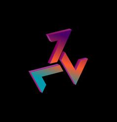 Triskelion 3d isometric symbol with gradient vector