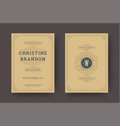 wedding save date invitation cards flourishes vector image