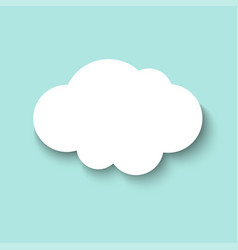 white paper cut cloud 3d paper art style weather vector image