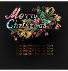 hand-drawn Christmas banner vector image