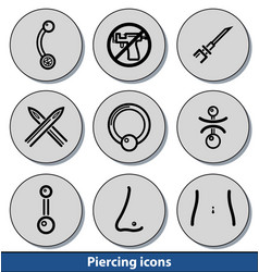 light piercing icons vector image vector image