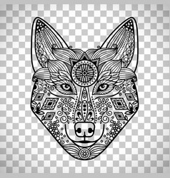 wolf head with guata vector image