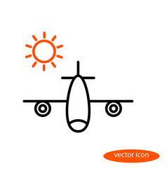 a simple image of an airplane carrying vector image
