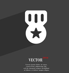 Award Medal of Honor icon symbol Flat modern web vector image vector image