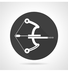 Ball crossbow black round icon vector image