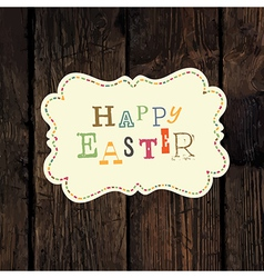 easter greeting vector image vector image