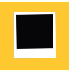 Instant big photo Flat design style Yellow vector image vector image
