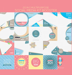 multipurpose social media kit booster vector image