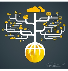 network globe worldwide vector image vector image