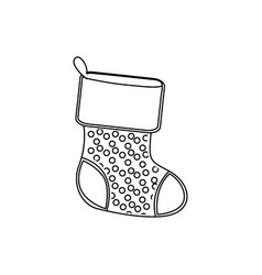 sihouette christmas boots icon vector image vector image